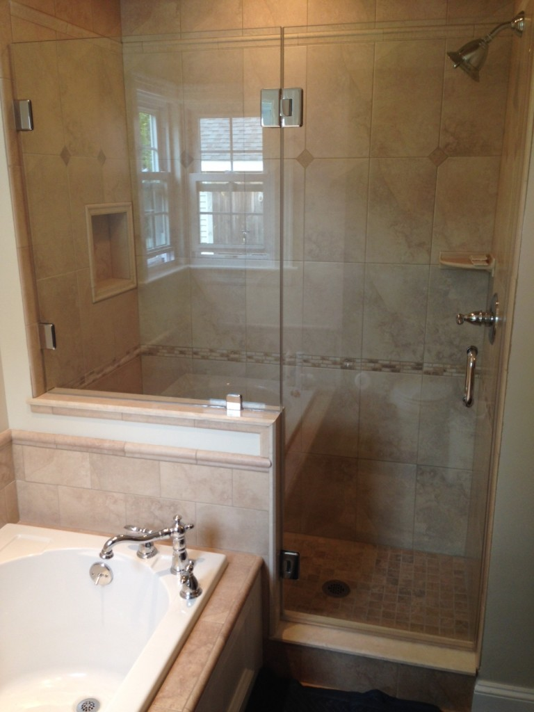 Milford MA Area Glass Shower Install