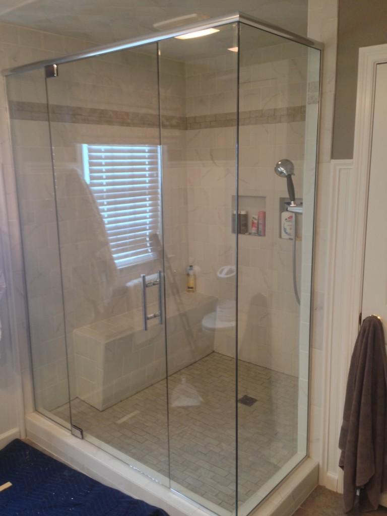 Shrewsbury MA Area Glass Shower Install