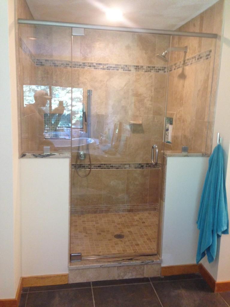 Upton MA Area Glass Shower Install